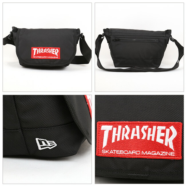 NEWERA ニューエラ SHOULDER BAG M THRASHER STICKER BLK