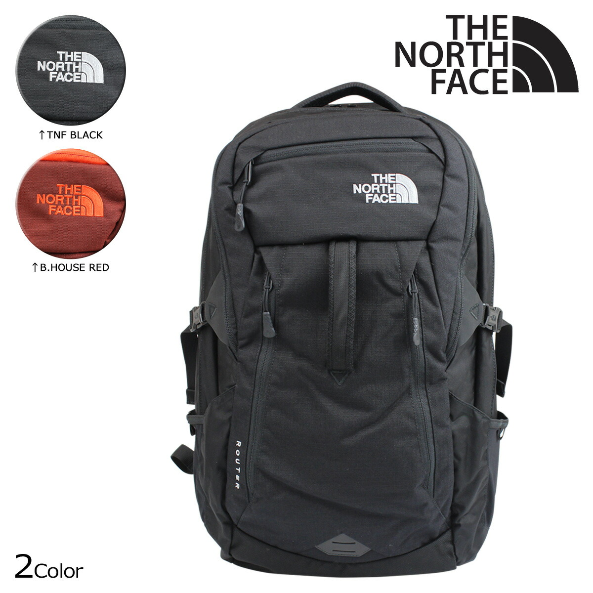 10fed7365 North Face THE NORTH FACE rucksack Lady's men backpack ROUTER BACKPACK 35L  LH3C