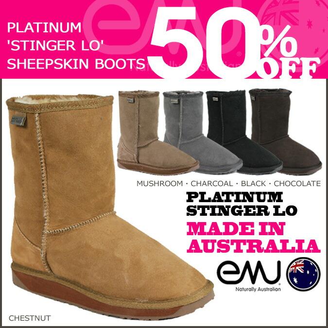 5b1f20ccdbb9 ALLSPORTS  EMU EMU Platinum Stinger Lo Sheepskin boots WP10002 ...