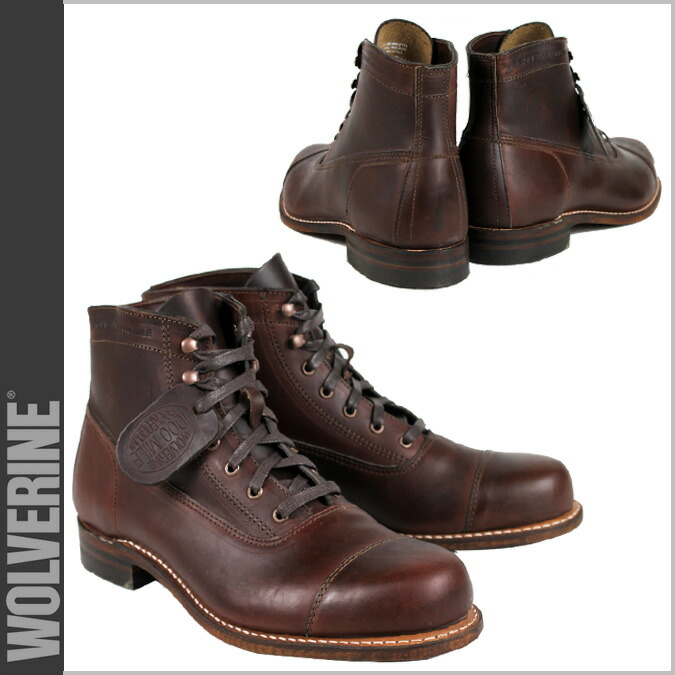 988d82aa5a7 Wolverene WOLVERINE 1,000 miles boots 1000MILE ROCKFORD CAP-TOE BOOT D Wise  W05293 brown work boots men