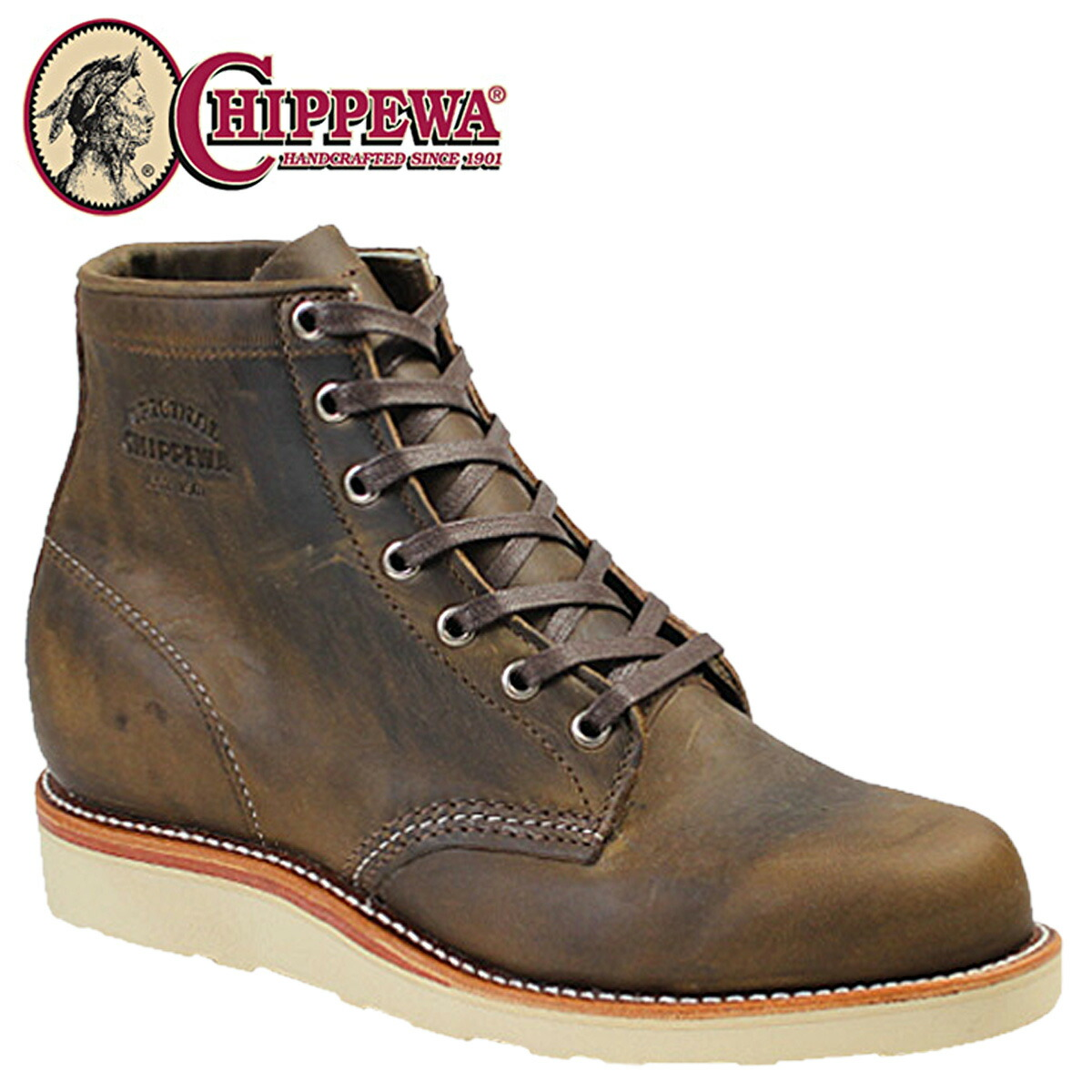 5638b61b192b1 Point 2 x Chippewa CHIPPEWA 6 inch plain to wedge boots 1901M18 6INCH PLAIN  TOE WEDGE D wise leather mens BOOTS 02P13Dec13 m