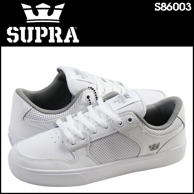 Sioux plastic SUPRA VAIDER LC S86003 sneakers Vader leather men white [3/8  Shinnyu