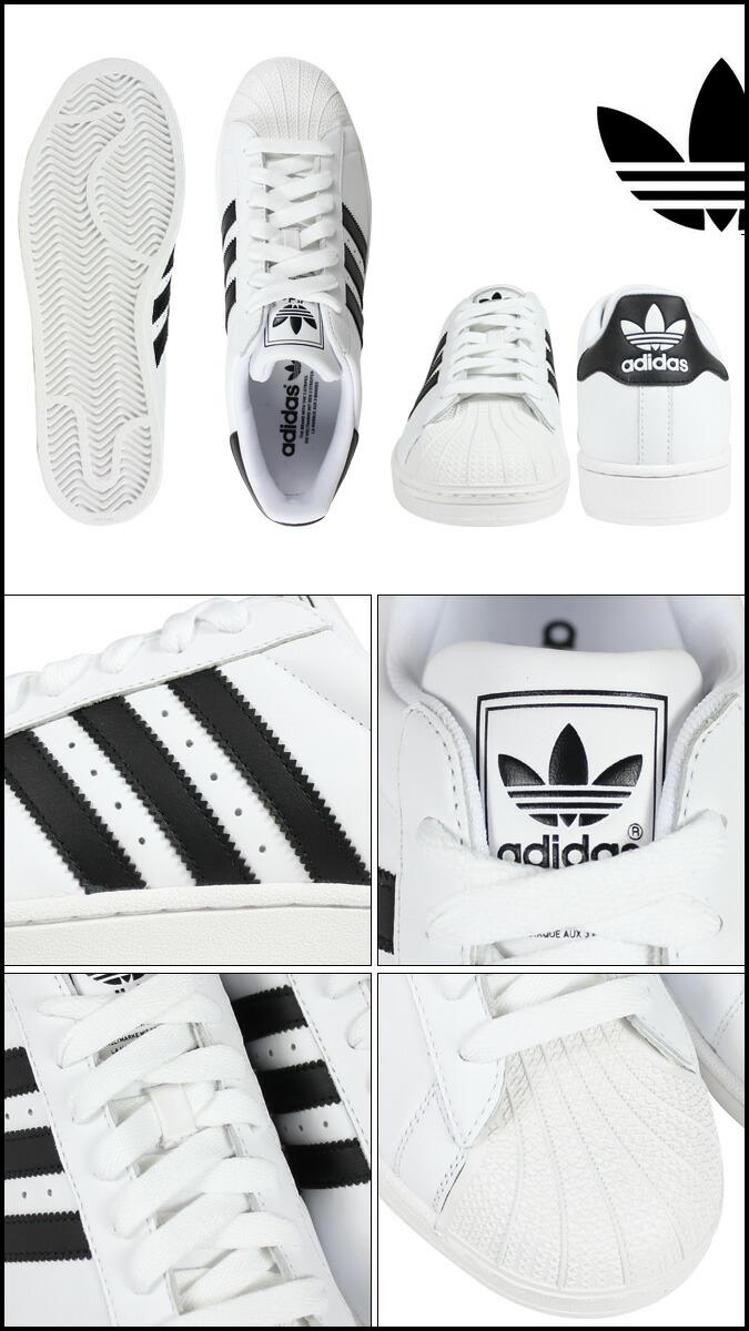 Adidas Originaler Super Hvit Svart IJxor0ka