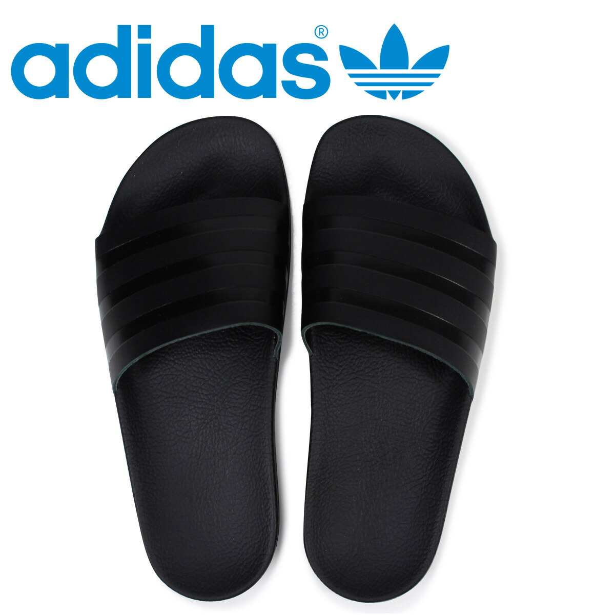 efe3f784706452 アディダスアディレッタ adidas Originals sandals shower sandals ADILETTE SLIDES men  CQ3094 black originals  load planned Shinnyu load in reservation product ...