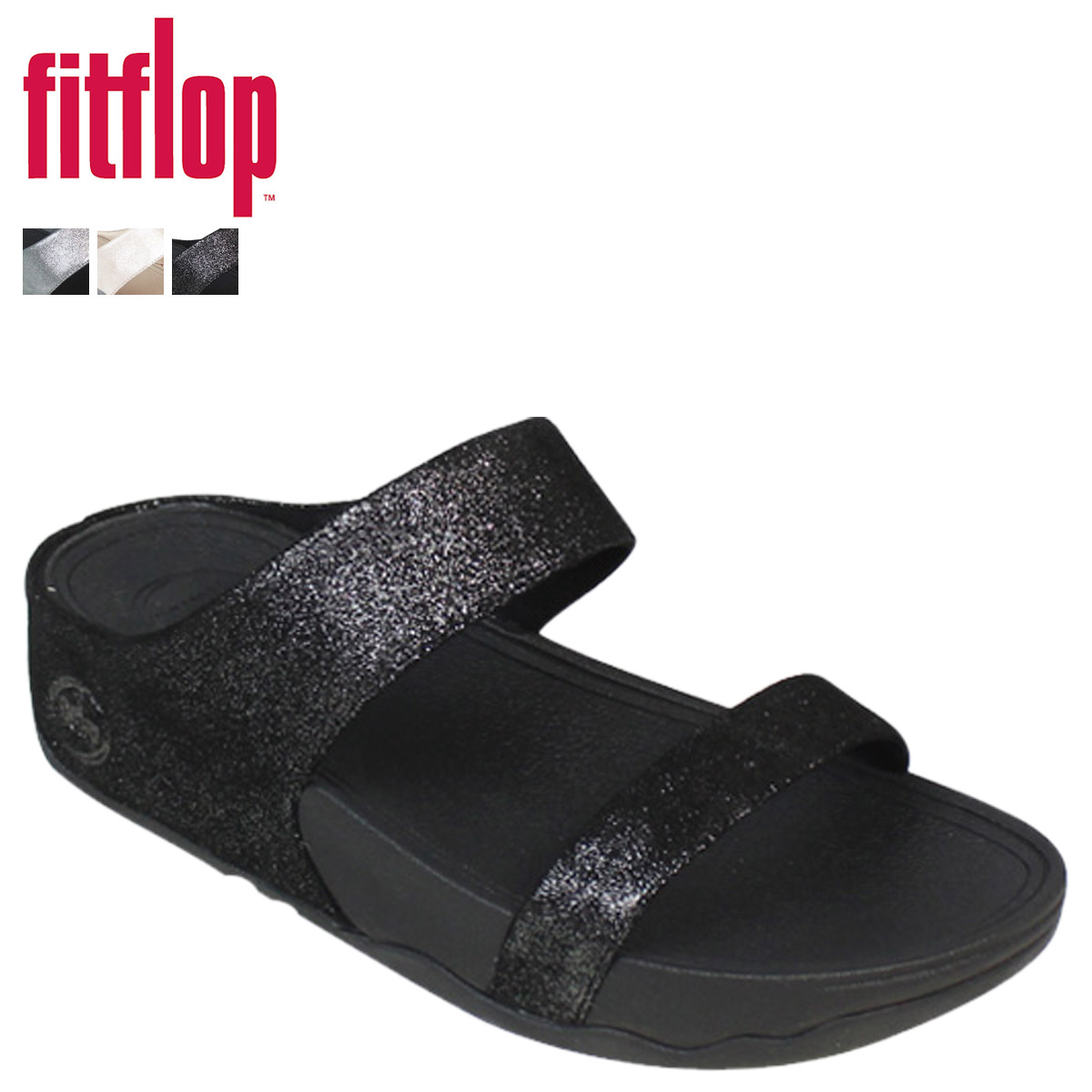 0064f089b67198 Fitflop Lulu Shimmer Suede Slide