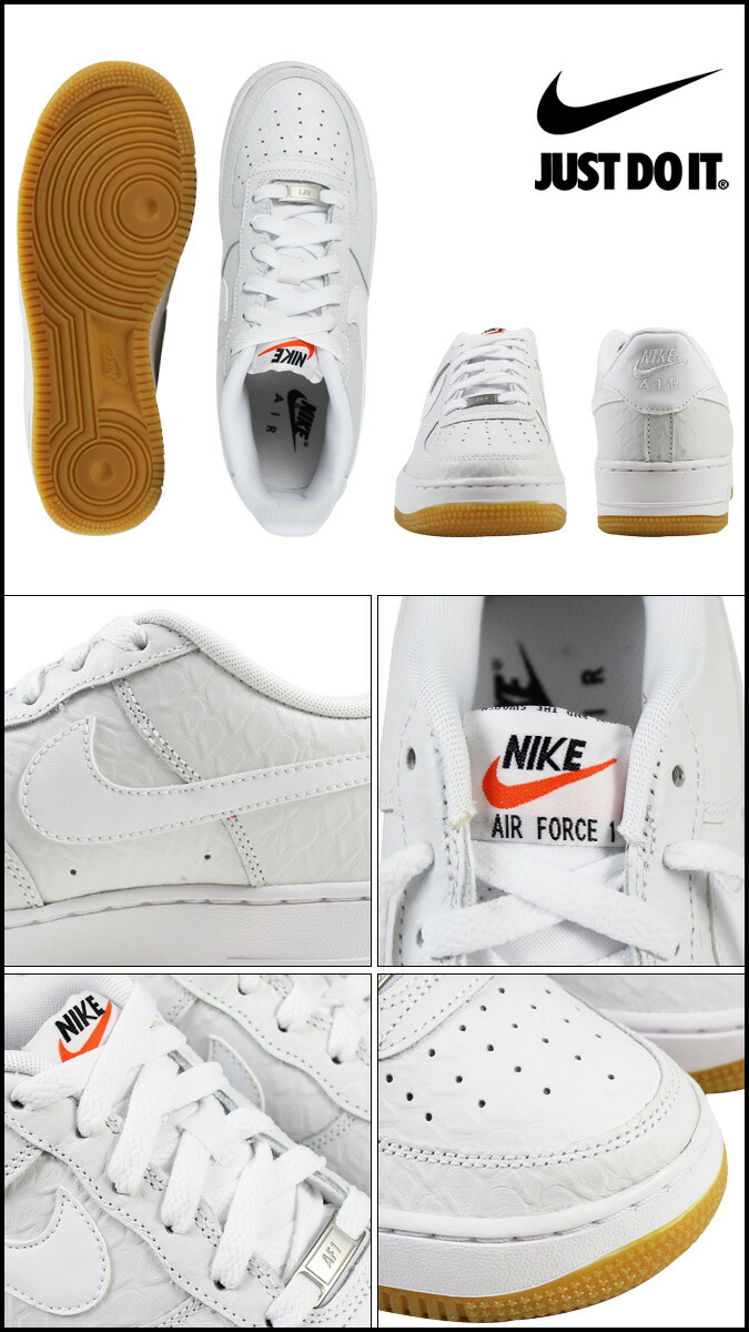Nike NIKE air force 1 lady's sneakers AIR FORCE 1 LOW GS low 596,728 180 white