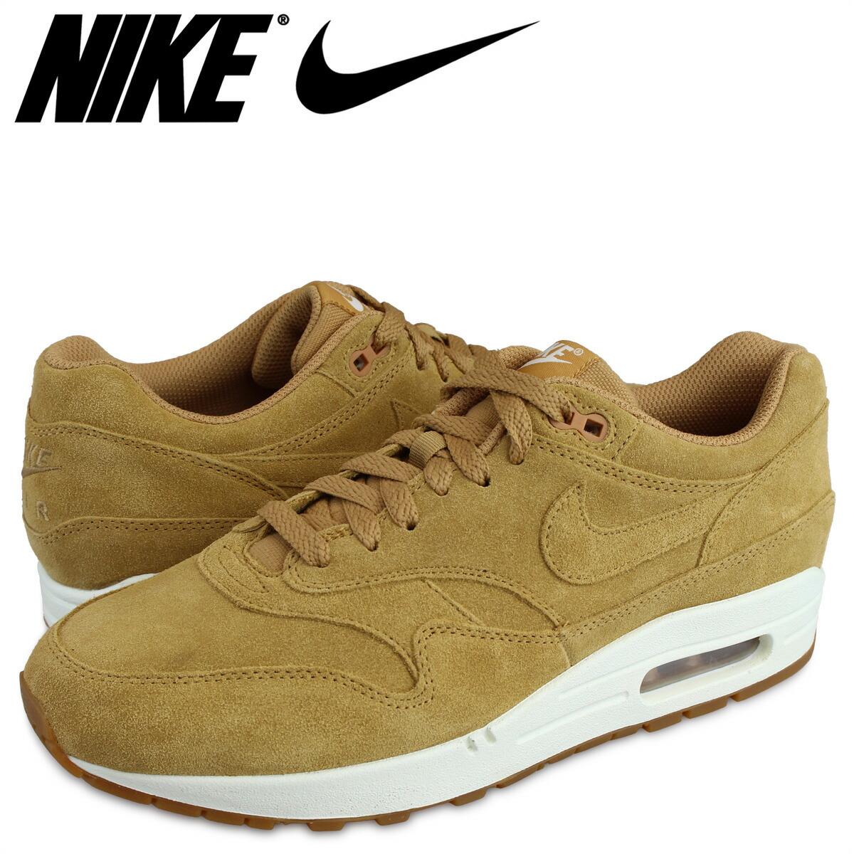 Nike NIKE Air Max 1 premium sneakers AIR MAX 1 PREMIUM WHEAT 875,844 203 men's light brown