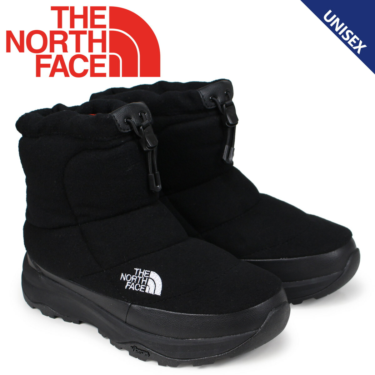9853a8dc20bf8 North Face THE NORTH FACE ヌブシブーティブーツメンズレディース NUPTSE BOOTIE WOOL IV SHORT  black NF51879  9 21 Shinnyu load