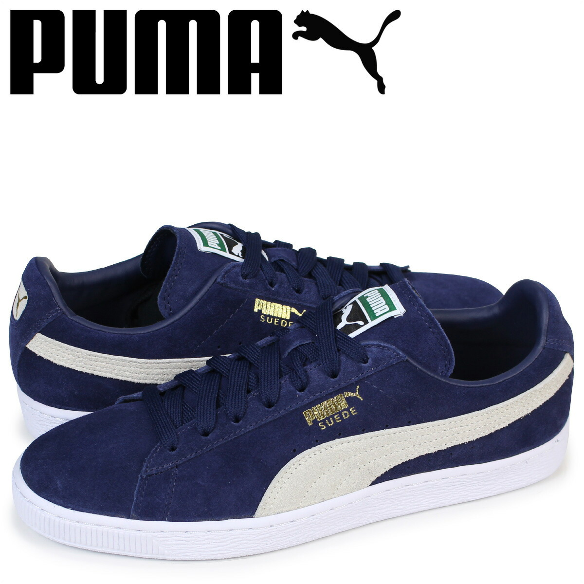 new style aaa9f 084a8 Puma PUMA suede classical music sneakers SUEDE CLASSIC + 356,568-51 men's  navy