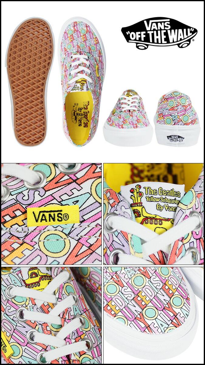 363b5fbde6 SneaK Online Shop  Vans VANS women s AUTHENTIC BEATLES sneakers ...