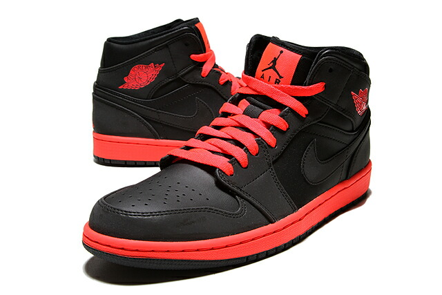 detailed look b99e8 7fd8a ... NIKE AIR JORDAN 1 MID 554724-043 BLACK INFRARED 23 Nike Air Jordan Nike  ...