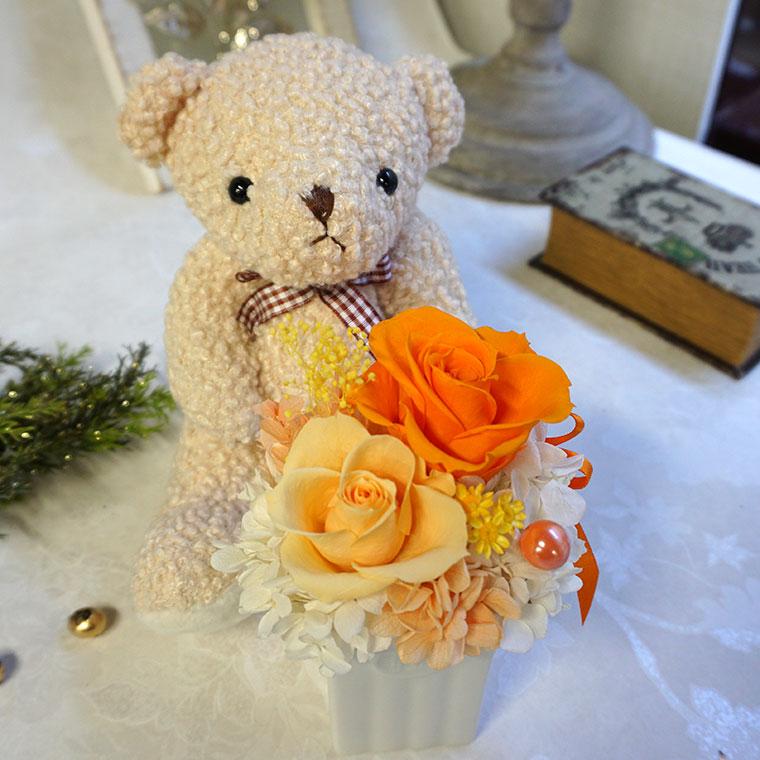 テディとお花のセット