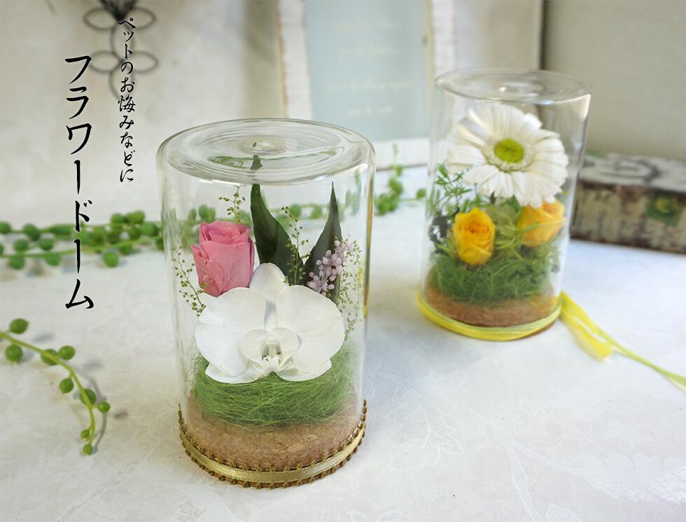 ガラスドーム 仏花