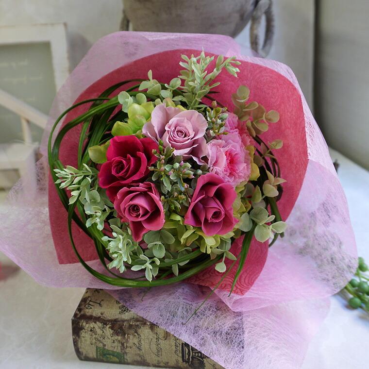 プリザーブドフラワー花束 カシスベリー