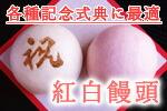 和菓子・紅白饅頭・記念式典・お祝い