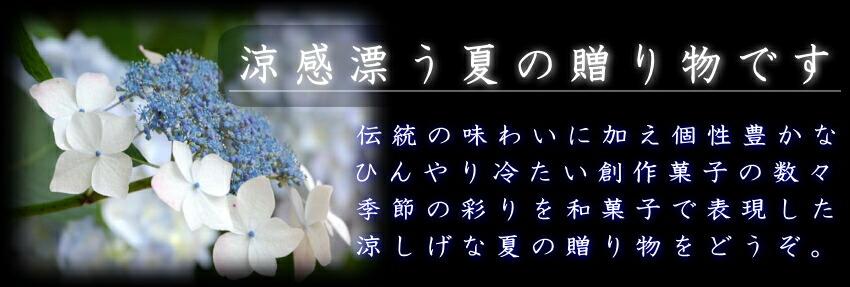 お中元・和菓子の贈り物・夏のスイーツ