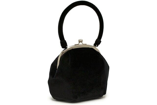 上品なベルベット調のフォーマル向きフロッキーハンドバッグ