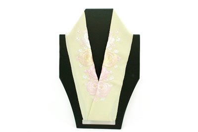 黄色系,バラ,半襟,半衿,はんえり,刺繍半襟,刺繍半衿,振袖