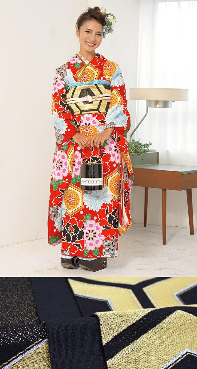 成人式におすすめ!正絹着物と西陣帯の成人式振袖セット