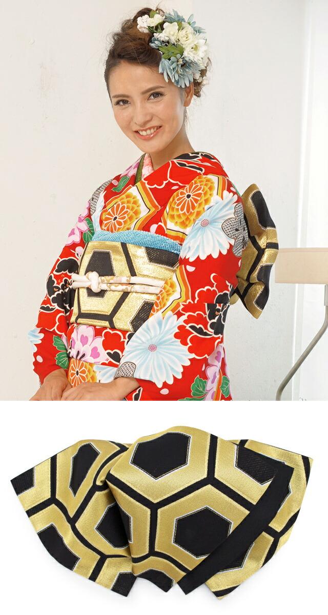 オシャレに着こなす正絹着物と西陣帯の成人式向けセット