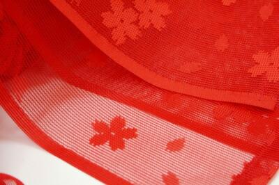 【レビューを書いて送料無料(メール便限定)】兵児帯 子供 赤 浴衣帯 へこ帯 女の子 桜