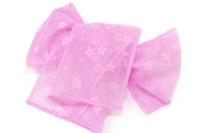 ピンク桜兵児帯