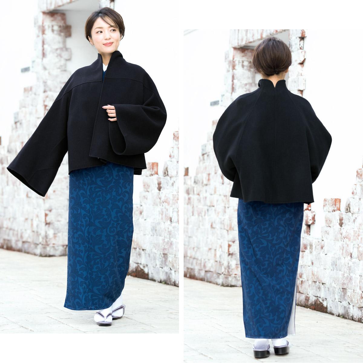 厳寒や強風の日に便利な和装用・着物用コート
