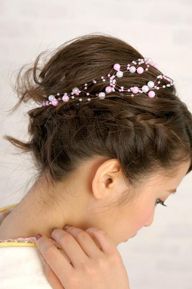 髪飾り装着例(モデル)