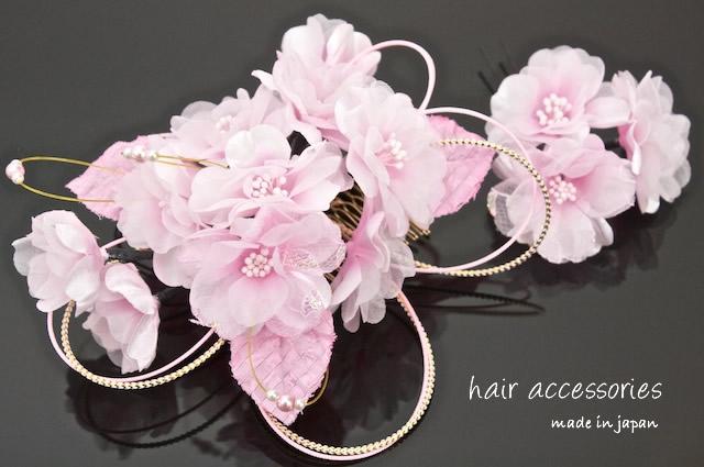 ピンク髪飾り