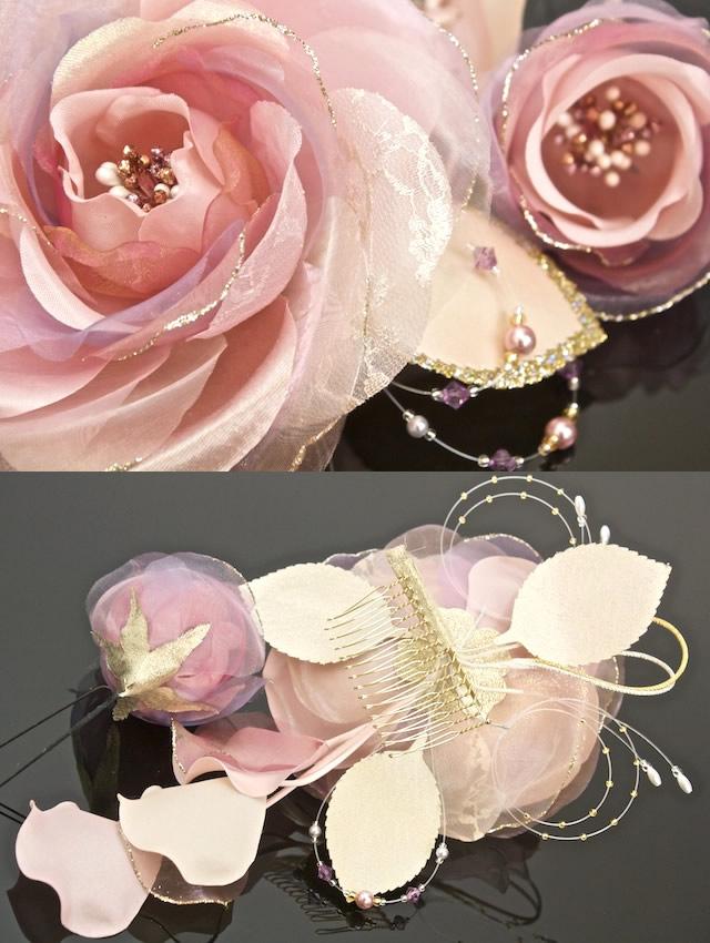 ピンク系,着物スタイルのおしゃれに,髪飾り