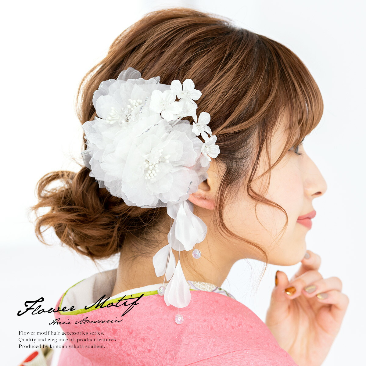 淡い色合いが可愛らしい髪飾り2点セット