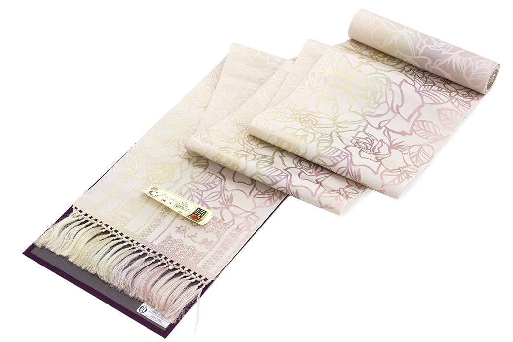粋な正絹の未仕立て八寸名古屋帯