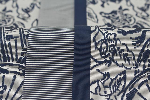 大倉織物謹製・品質証紙付き・博多織の男性用正絹角帯