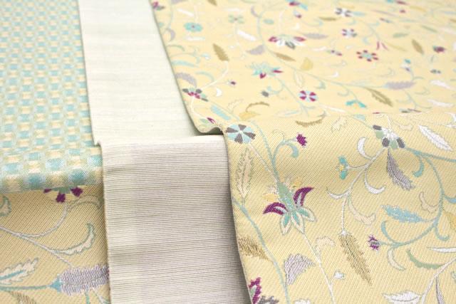 絹の風合いに上品さが漂う西陣織元の高級袋帯