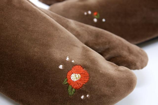 足袋,刺繍足袋,椿,着物,和服,和装,大人,女性,レディースb