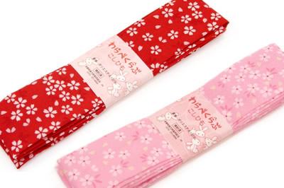 子供用 腰紐 2本セット 赤 ピンク 桜 七五三 浴衣 腰ひも