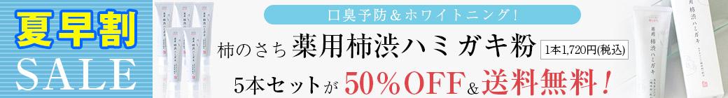 柿渋ハミガキ粉5本セット