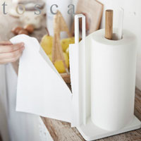 片手で切れるキッチンペーパーホルダー トスカ ホワイト