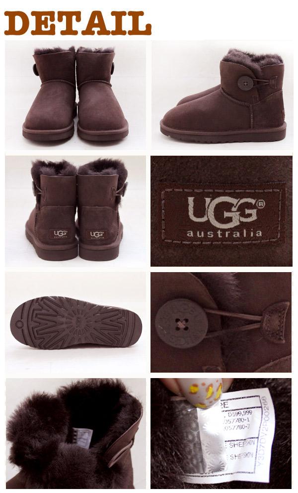 アグ オーストラリア UGG Australia MINI BAILEY BUTTON ミニ ベイリーボタン ムートン ショート ブーツ レディース( 女性用 )(3352) 【正規品】【即納】