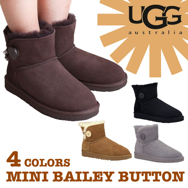 ... ugg australia classic mini bailey button chestnut womens boots .