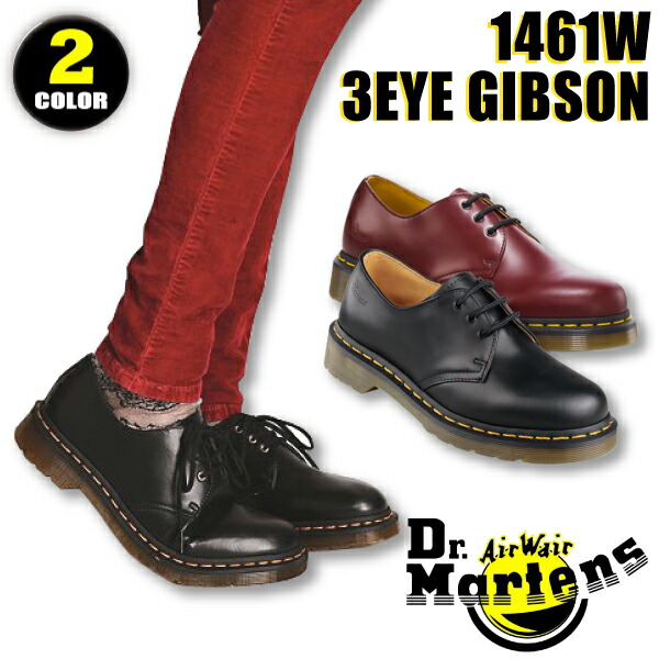 Dr. Martens Dr.Martens 1461 W 3 EYE GIBSON 3 Hall Gibson leather low-cut  leather shoes (for women) (11837600 8a25946d4