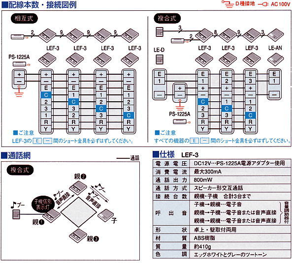 lef 3 shiyou social rakuten global market [lef 3] aiphone alternating calls aiphone lef 3l wiring diagram at gsmx.co