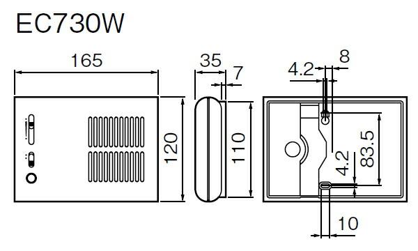 EC730W メロディサイン 寸法