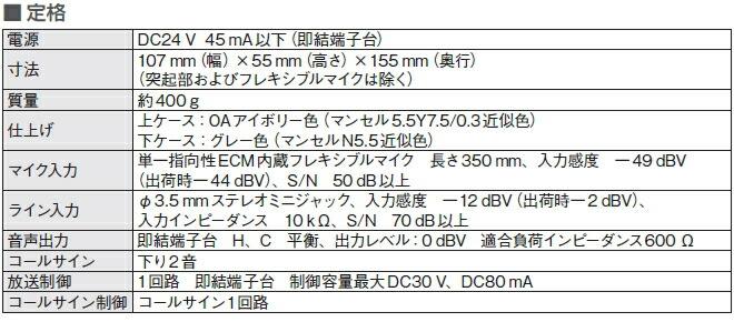 WR-201仕様