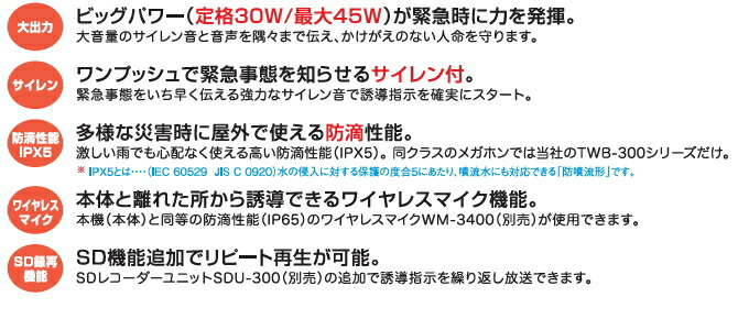 TWB-300S 仕様