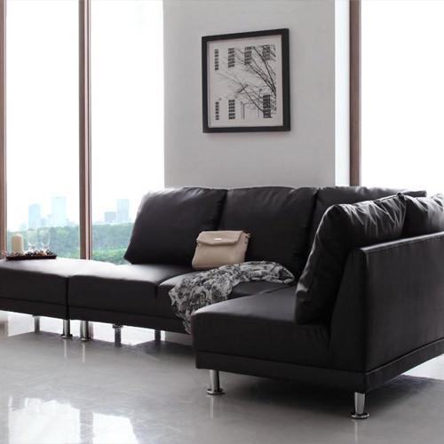 卓越されたデザインが存在感を増す モダンデザインコーナーソファ 3点セット