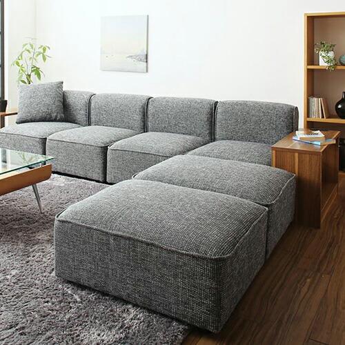 ワイドサイズでゆとりある暮らし ワイドローソファ サイドテーブル肘セット