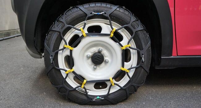 【取り付け簡単!】非金属タイヤチェーン