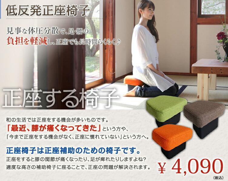 低反発正座椅子(低め)