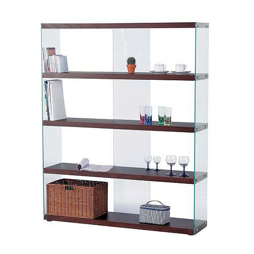 ワイドグラスシェルフ(ガラス収納棚)